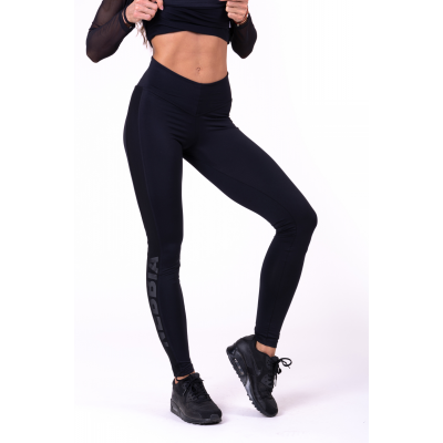663 LEGGINGS FLASH-MESH JUODOS